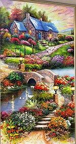 カラービーズストーン画夢幻家花園