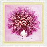 カラービーズストーン画5D小花満花瓶