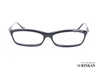 Chrome hearts /CHROME HEARTS BEARDEDBABY-A plastic frame glasses eyeglasses (frame clear lens black) bb03 #rinkan * B