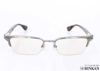 Chrome hearts /Chrome Hearts side cemetary CH cross eyeglasses eyewear (frame brown tone x clear Silver (lens)) bb35 #rinkan * A