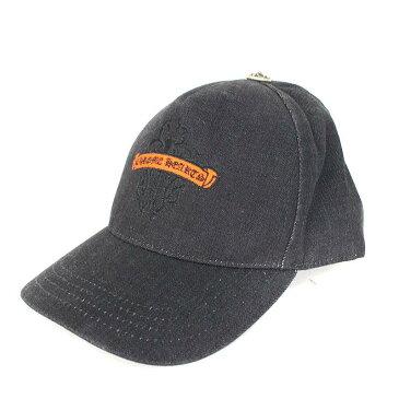 クロムハーツ/Chrome Hearts ダガー刺繍クロスボールベースボールキャップ帽子(ブラック×シルバー)【HJ08】【小物】【509081】【中古】【P】bb51#rinkan*B