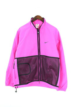 シュプリーム/SUPREME ×ナイキ/NIKE 【17AW】【Trail Running Jacket】トレイルナイロンジャケット(M/ピンク×ブラック)【SB01】【メンズ】【401181】【中古】bb30#rinkan*A