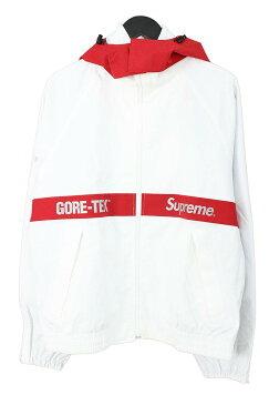 シュプリーム/SUPREME 【18AW】【GORE-TEX Track Jacket】ゴアテックスジャケット(M/ホワイト×レッド)【OM10】【メンズ】【502181】【中古】bb10#rinkan*S