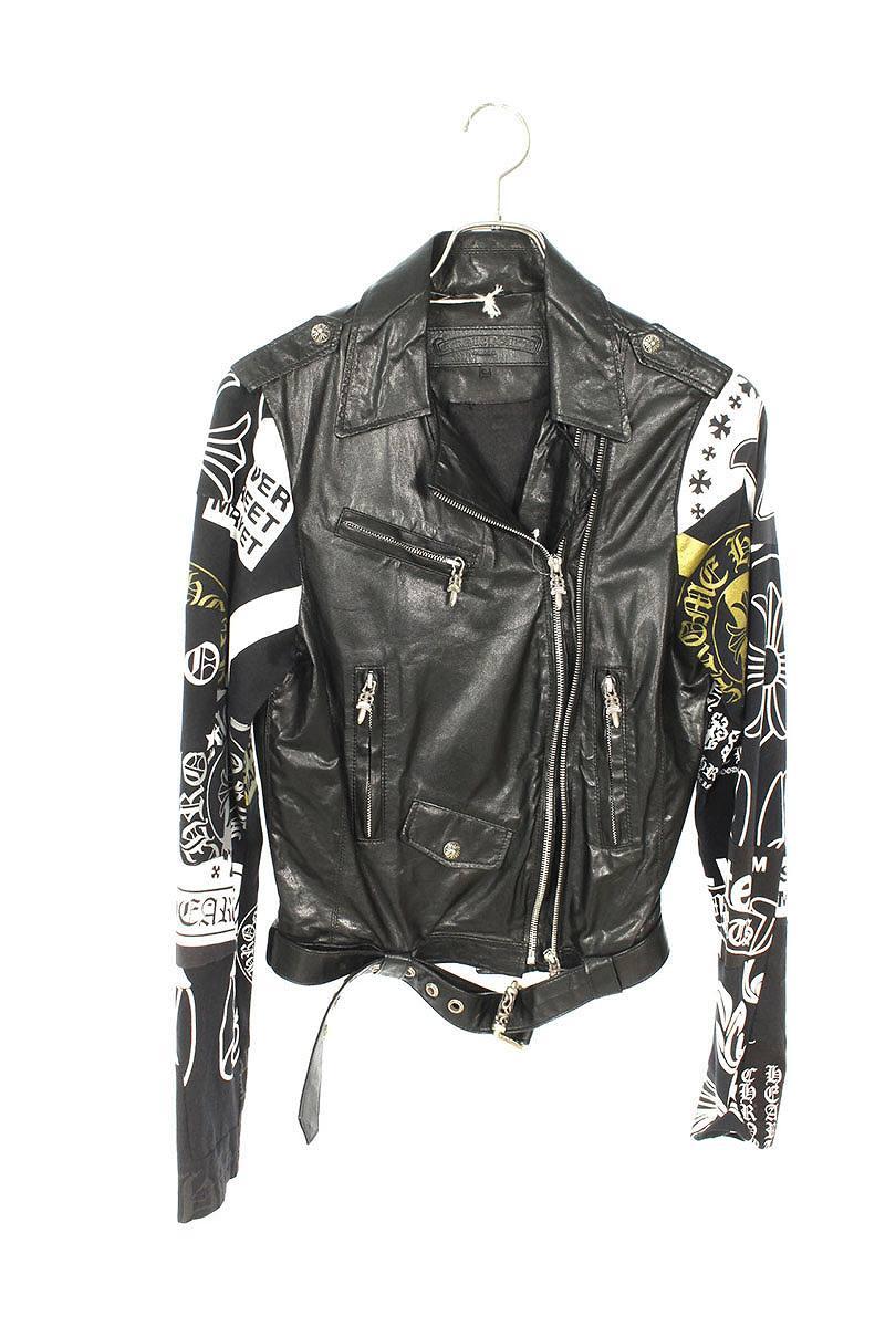 メンズファッション, コート・ジャケット Chrome Hearts JACKET MOTO LAURIE LEATHERDSMG(LJVP)SS07521191b b30rinkanA