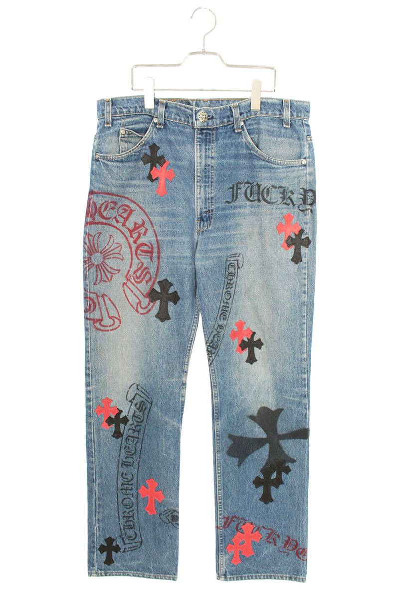 メンズファッション, ズボン・パンツ Chrome Hearts :34 STENCIL DENIM()SJ02906012bb82rinkanB