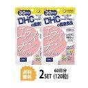 DHC エラスチンカプセル 30日分 (60粒) X2セットディーエイチシー サプリメント エラスチン ゼラチン グリセリン ビタミンE グリセリン脂肪酸エステル ミツロウ ビタミンB2 美容 健康 dhc 女性 DHC 美容サプリメント 送料無料 2個セット