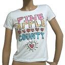 パイナップルカウンティ レディース Tシャツ スパンコール オリジナル  半袖 Pineapple County original spangle T-shirt