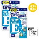 【送料無料】 DHC 天然ビタミンE 大豆 20日分×2パッ