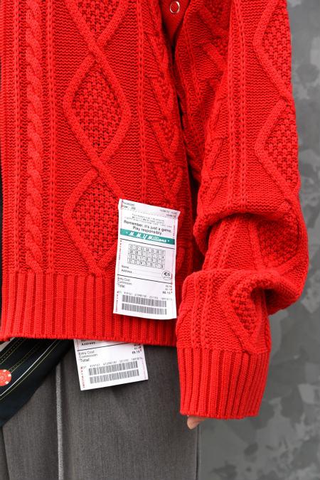 Maison MIHARA YASUHIRO メゾン ミハラヤスヒロ Removable knit cardigan メンズ ニット カーディガン スタンドカラー 長袖 半袖 取り外し