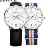 ベーリング[BERING]クラフトレザー[Calf Leather]14240-404 メンズ・レディース北欧デザイン 替えベルト付2WAYモデル【腕時計 時計】【ギフト プレゼント】