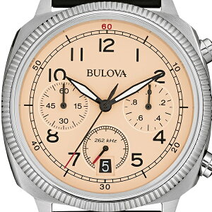 ブローバショッピングローン無金利対象品ブローバ[BULOVA]MILITARY[ミリタリー]96B231レザーバンド【腕時計時計】