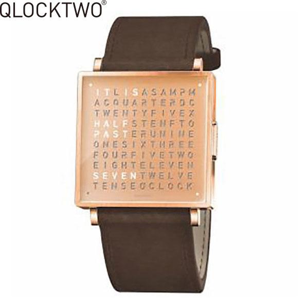 【2,000円OFFクーポン】クロックツー[QLOCKTWO]ショッピングローン無金利対象品クロックツー ウォッチ 39ミリ[QLOCKTWO W 39mm]カッパー[COPPER]QW39EN4RGLSVBN 正方形 文字表示メンズ レディース【腕時計 時計】