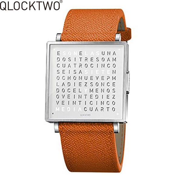 【2,000円OFFクーポン】クロックツー[QLOCKTWO]ショッピングローン無金利対象品クロックツー ウォッチ 39ミリ[QLOCKTWO W 39mm]ピュア オレンジ[PURE ORANGE]QW39EN7BRLGORN 正方形 文字表示メンズ レディース【腕時計 時計】