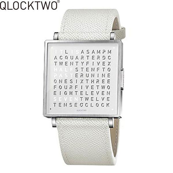 【2,000円OFFクーポン】クロックツー[QLOCKTWO]ショッピングローン無金利対象品クロックツー ウォッチ 39ミリ[QLOCKTWO W 39mm]ピュア ホワイト[PURE WHITE]QW39EN7BRLGWHN 正方形 文字表示メンズ レディース【腕時計 時計】