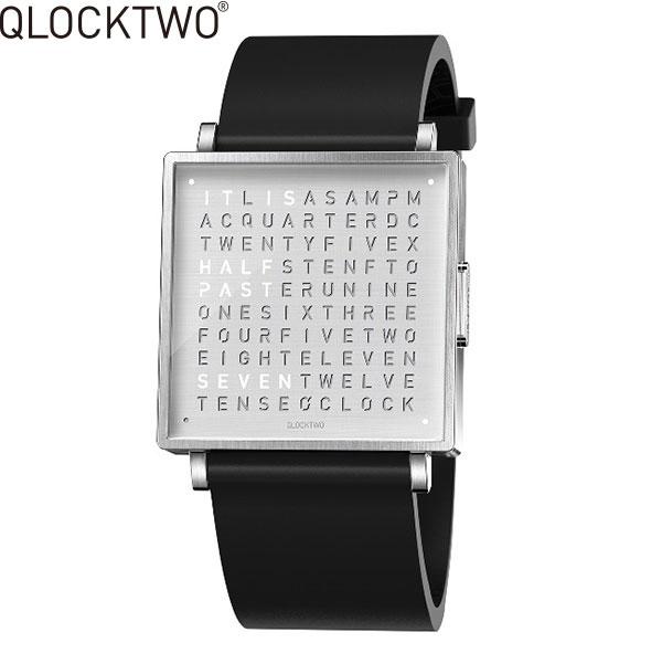 【2,000円OFFクーポン】クロックツー[QLOCKTWO]ショッピングローン無金利対象品クロックツー ウォッチ 39ミリ[QLOCKTWO W 39mm]ファインスチール[FINE STEEL]QW39EN3BRRUBLN 正方形 文字表示メンズ レディース【腕時計 時計】