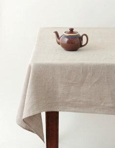 フォグリネンワーク(fog linen work) リネンテーブルクロス(L)ナチュラル 麻本来の色味を活かしています。色合い違いあり。