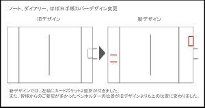 高級本革製ノートカバーフラップタイプ(リフィルノート付)【Antiqua】SSサイズ・アンティークフィニッシュ(茶色)