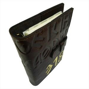 高級本革製システム手帳【Ikuvina】A5サイズ・金装飾