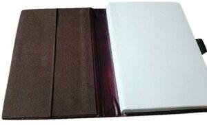 高級本革製ノートカバー(リフィルノート付)【Antiqua】(SSサイズ)アンティーク・フィニッシュ(茶色)