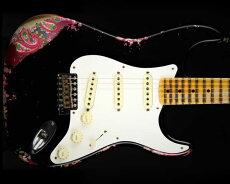 FenderCustomShop2016NAMMLimitedEdition1957StratocasterHeavyRelicBlackOverPinkPaisley