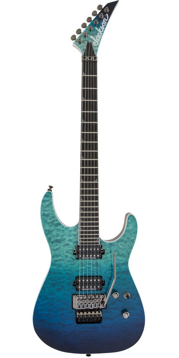 ギター, エレキギター JacksonPro Series Soloist SL2Q MAH Caribbean Blue Fade