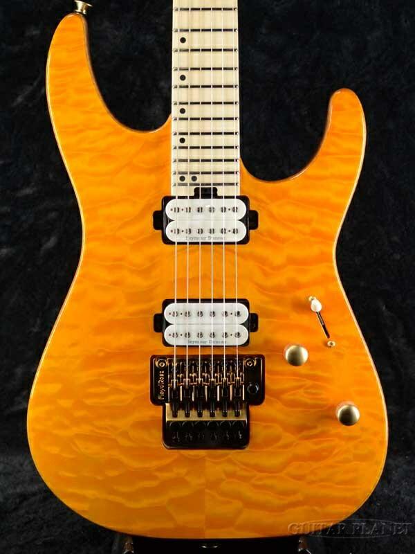 ギター, エレキギター Charvel Pro-Mod DK24 HH FR M Mahogany with Quilt Maple -Dark Amber- Yellow,,,Stratocaster,Electr ic Guitar,
