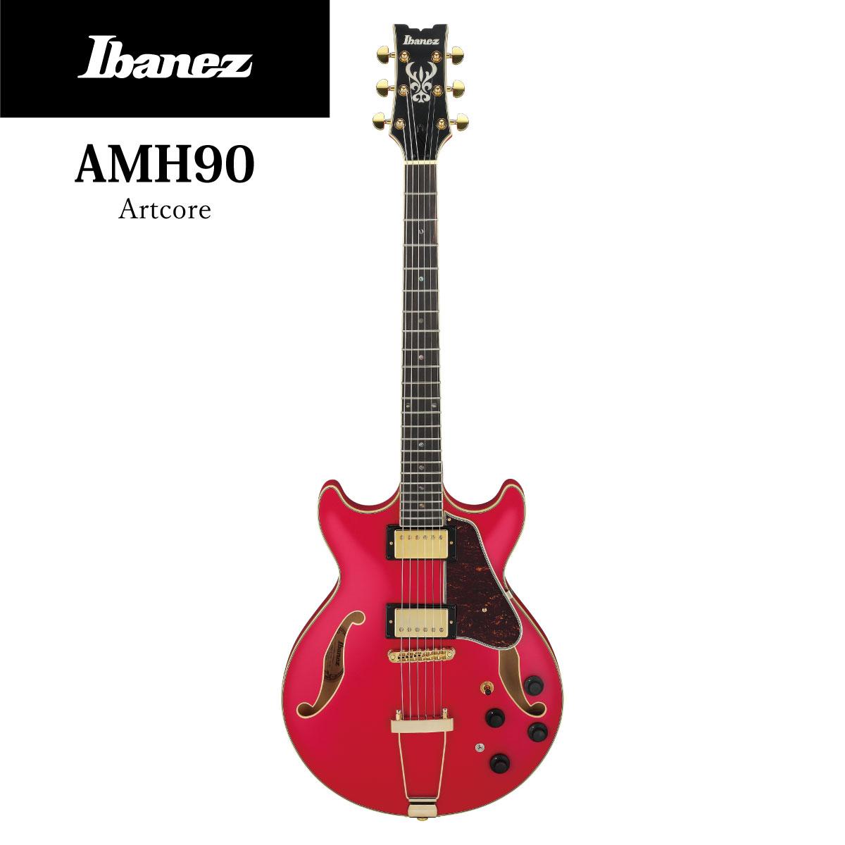 ギター, エレキギター Ibanez AMH90 -CRF(Cherry Red Flat)- Pink,,,Electric Guitar,