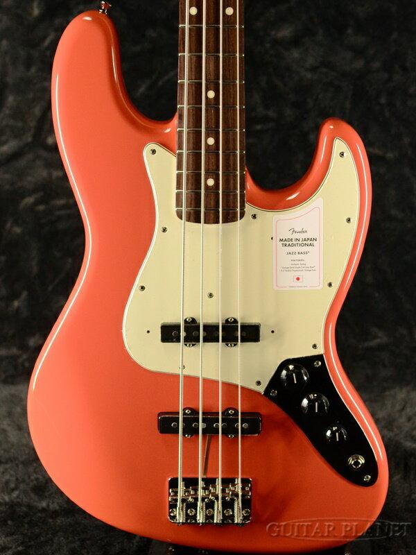 ベース, エレキベース NEW MODELFender Made In Japan Traditional 60s Jazz Bass -Fiesta Red- ,Electric Bass,