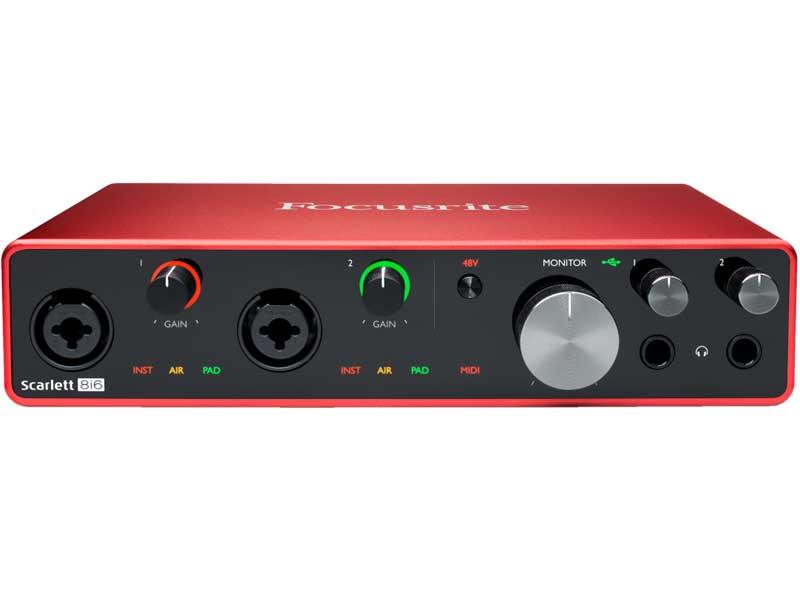 DAW・DTM・レコーダー, オーディオインターフェイス Focusrite Scarlett 8i6 3rd Gen Audio Interface