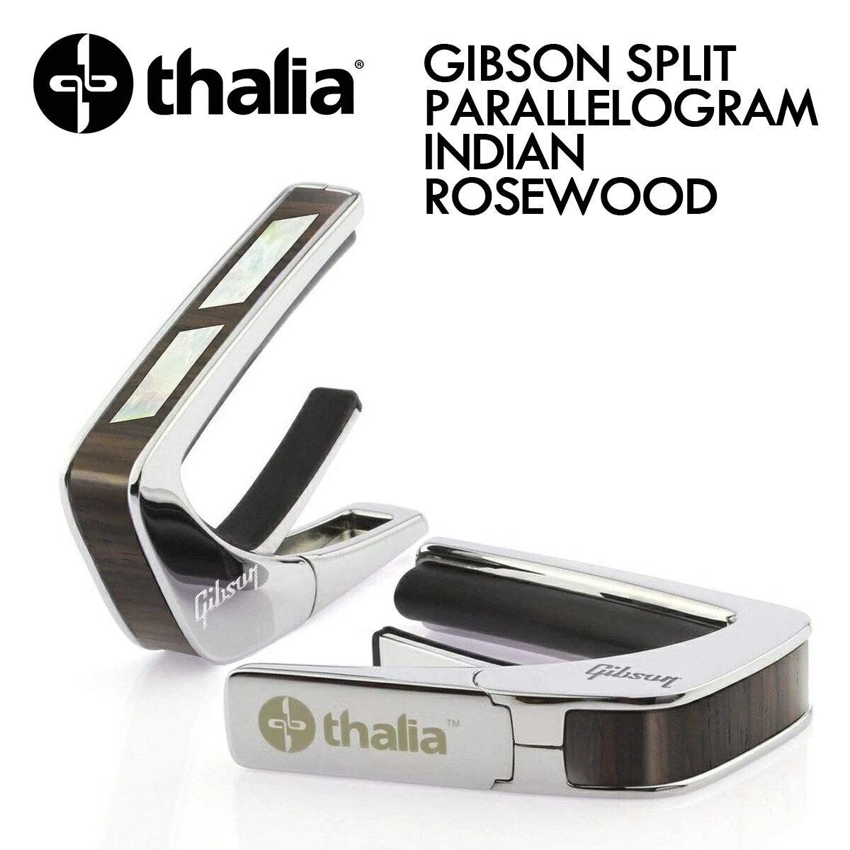 アクセサリー・パーツ, カポタスト Thalia Capos GIBSON SPLIT PARALLELOGRAM INDIAN ROSEWOOD -Chrome- ,Silver,,,Electric,Acoustic, Bass,Guitar