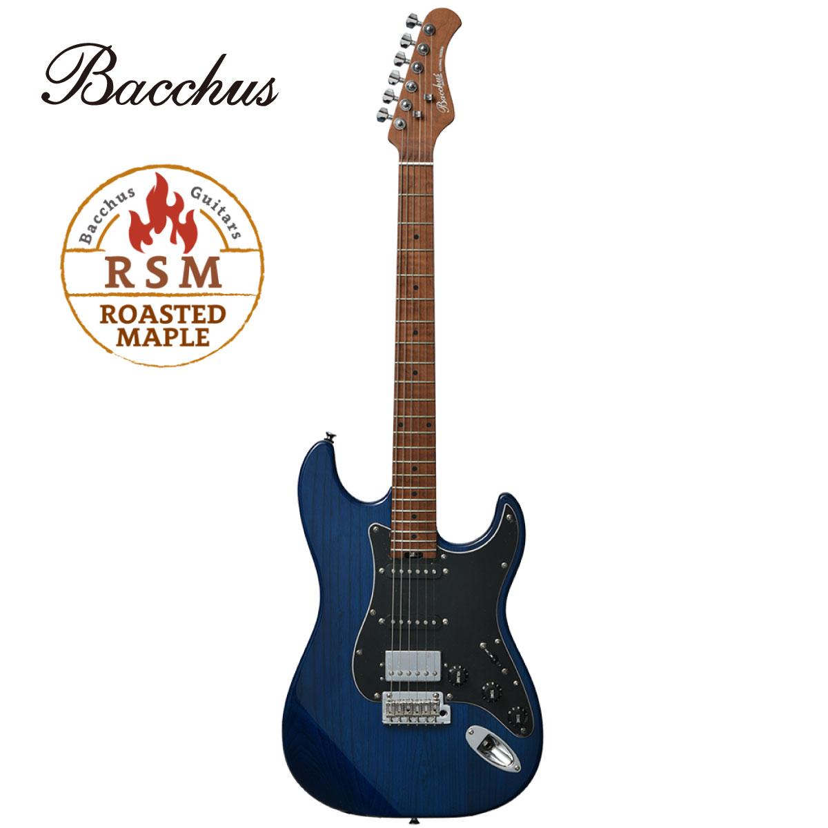 ギター, エレキギター Bacchus Global Series BSH-800ASHRSM -STB- Stratocaster,Blue,Guitar,