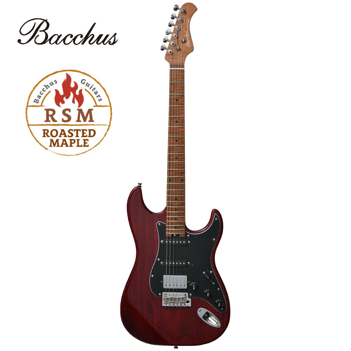 ギター, エレキギター Bacchus Global Series BSH-800ASHRSM -STR- Stratocaster,Red,Guitar,