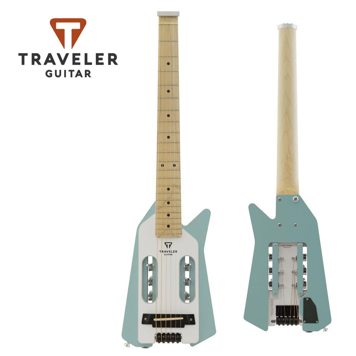 ギター, エレキギター Traveler Guitar Ultra-Light EDGE Blue and White ,,,Mini Guitar,,Electric Guitar,