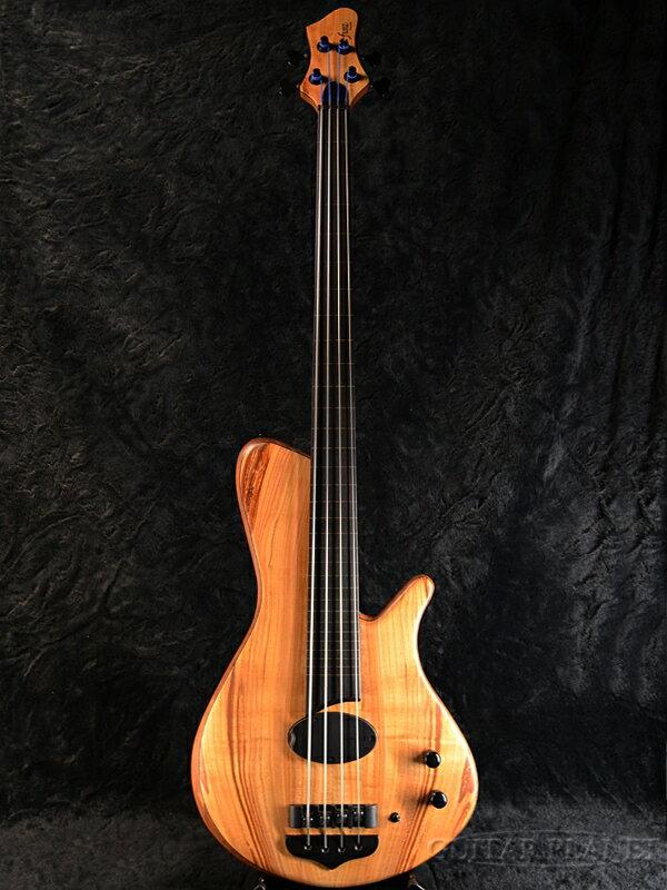 ベース, エレキベース Franz Sirius Fretless 4Strings -Spalted Cherry Top- Electric Bass,