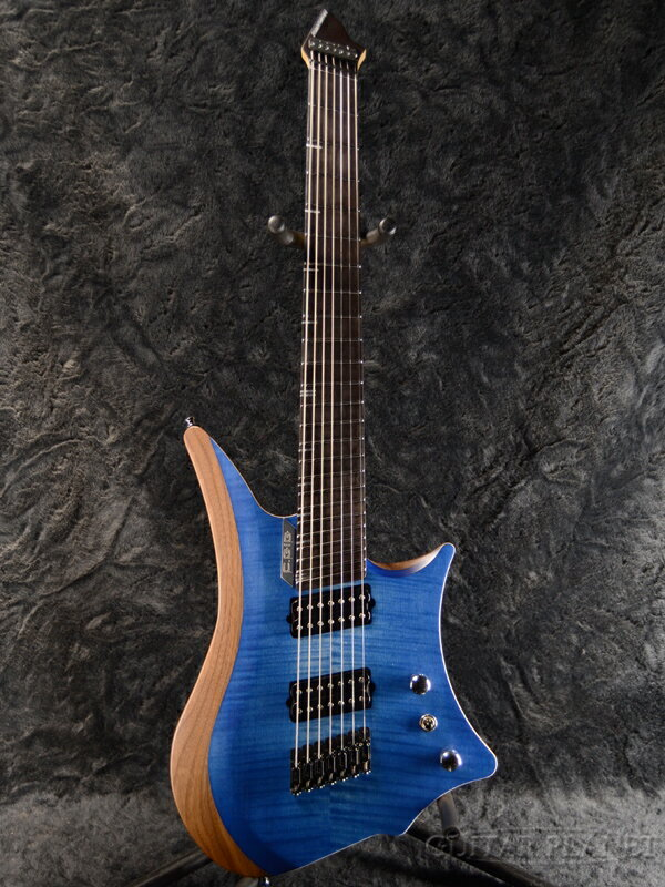 ギター, エレキギター C.GIG Y-REF 7 Doublecut -Trans Blue- ,7strings,7Headless,Electric Guitar,