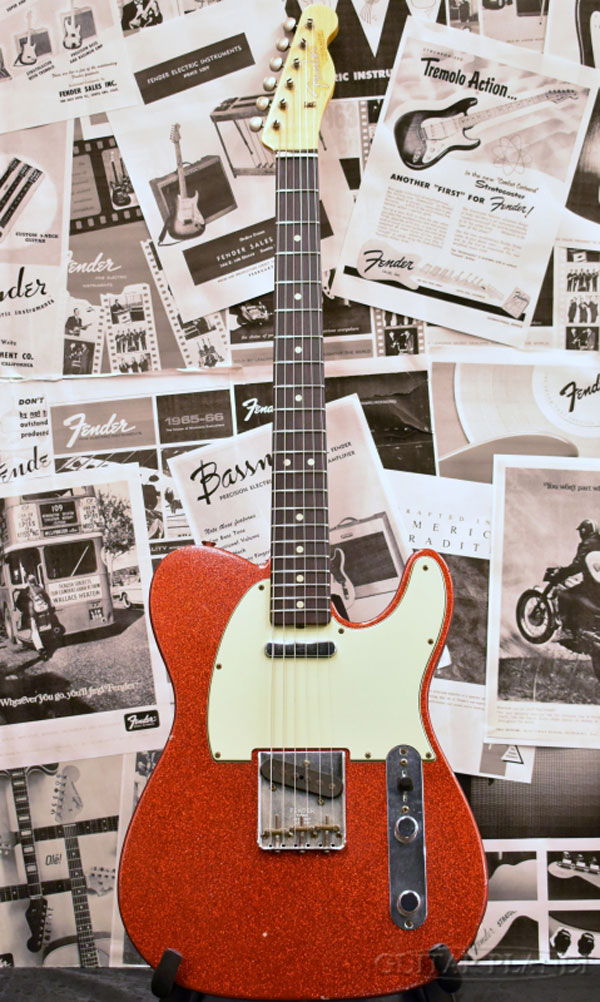 ギター, エレキギター Fender Custom Shop TBC 1963 Telecaster Journeyman Relic -Sparkle Red- 2015,Electric Guitarused