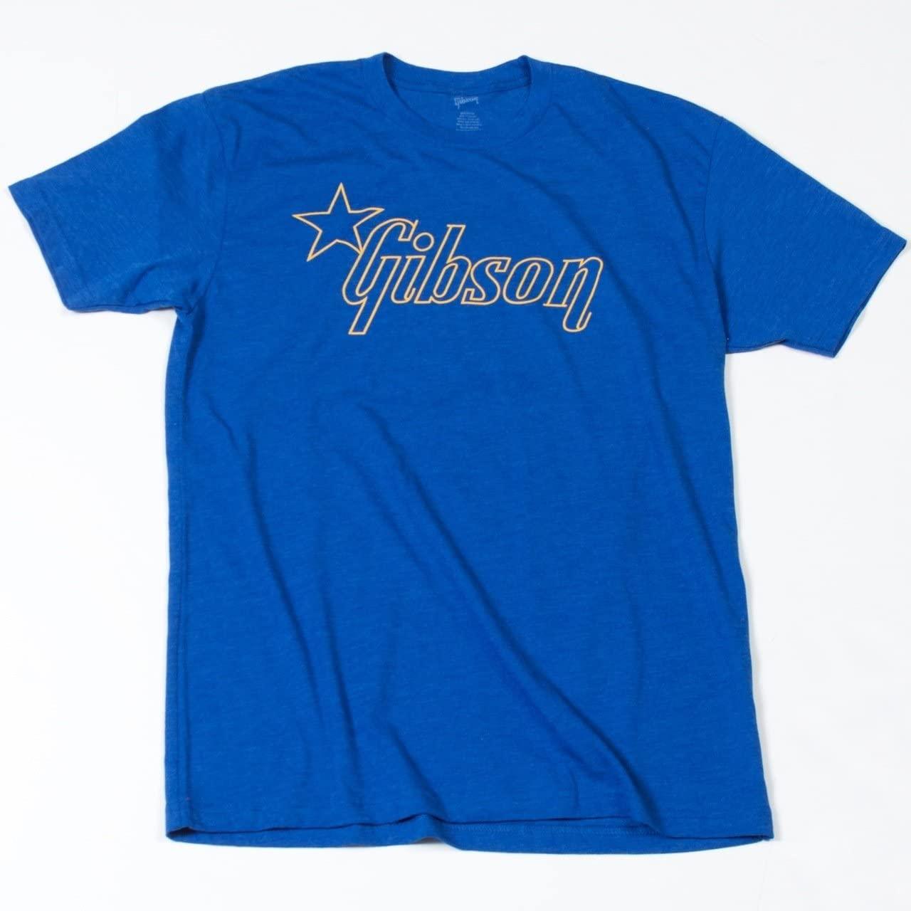 ギター用アクセサリー・パーツ, その他 Gibson Star T-Shirt (BLUE) T