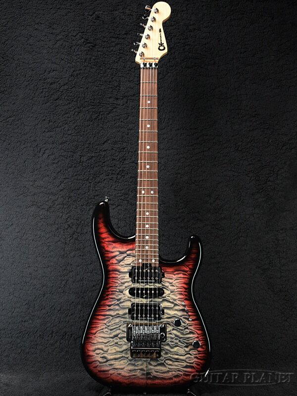 ギター, エレキギター Charvel MJ SAN DIMAS174; STYLE 1 HSH FR PF QM -Midnight Glow- Stratocaster,Electric Guitar,