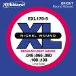 D'Addario 45-130 EXL170-5 Regular Light 5弦セット[ダダリオ][レギュラーライト][5strings][Nickel Round Wound,ニッケルラウンドワウンド][ベース弦,String]