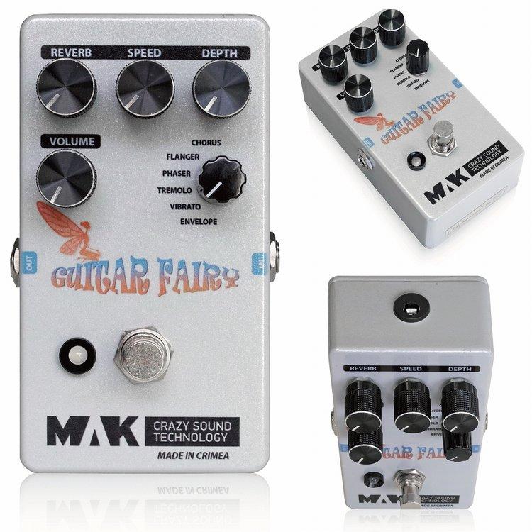 ギター用アクセサリー・パーツ, エフェクター MAK Crazy Sound Technology Guitar Fairy Modulation,Vibrato,Phaser,Re verbEffector,