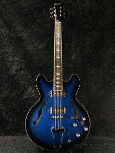 """【楽天スーパーSALE】【送料無料】Epiphone Limited Edition Gary Clark Jr. """"Blak & Blu"""" Casino 新品[エピフォン][ゲイリークラーク][カジノ][Blue,ブルー,青][セミアコ/フルアコ][Electric Guitar,エレキギター]_eg[05P05Sep15]"""