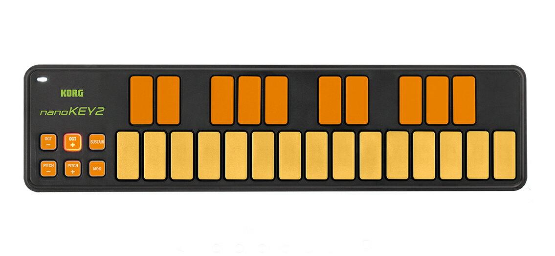 DAW・DTM・レコーダー, MIDIキーボード 10!!KORG nanoKEY2 ORGR 2OrangeGreen,25
