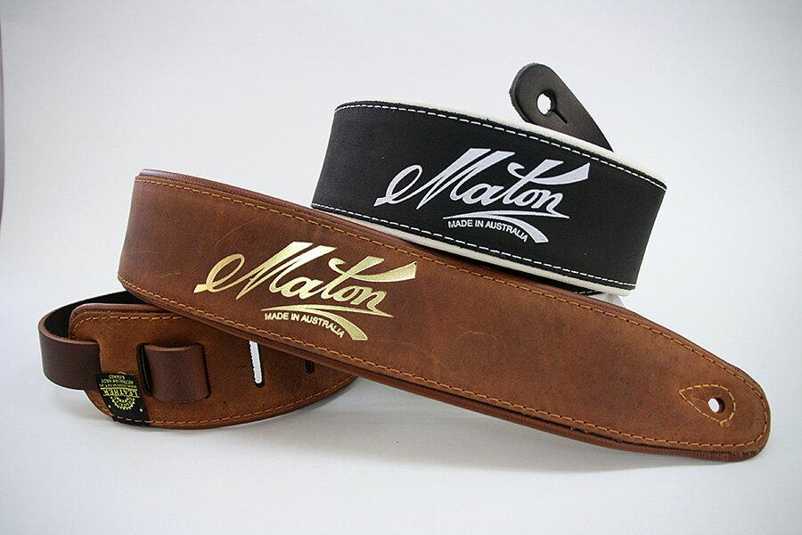 アクセサリー・パーツ, ストラップ Maton Deluxe Leather Strap GuitarBass Strap
