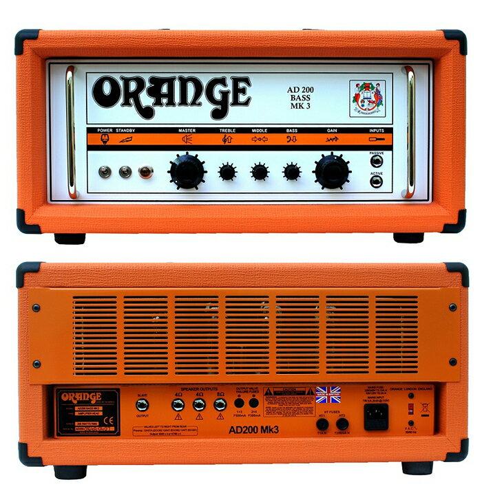 ベース用アクセサリー・パーツ, アンプ 200WOrange AD200B MKIII ABBass Amplifier Head