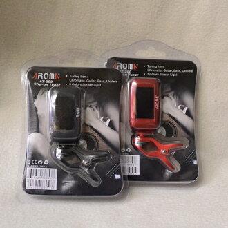 AROMA AT-200新貨環形別針調諧器[芳香][黑,紅,黑色,紅][AT200][Clip Tuner]