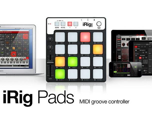 DAW・DTM・レコーダー, その他 iRigPads IK Multimedia MIDIiPhone,iPad,iPod touchMIDI Controller
