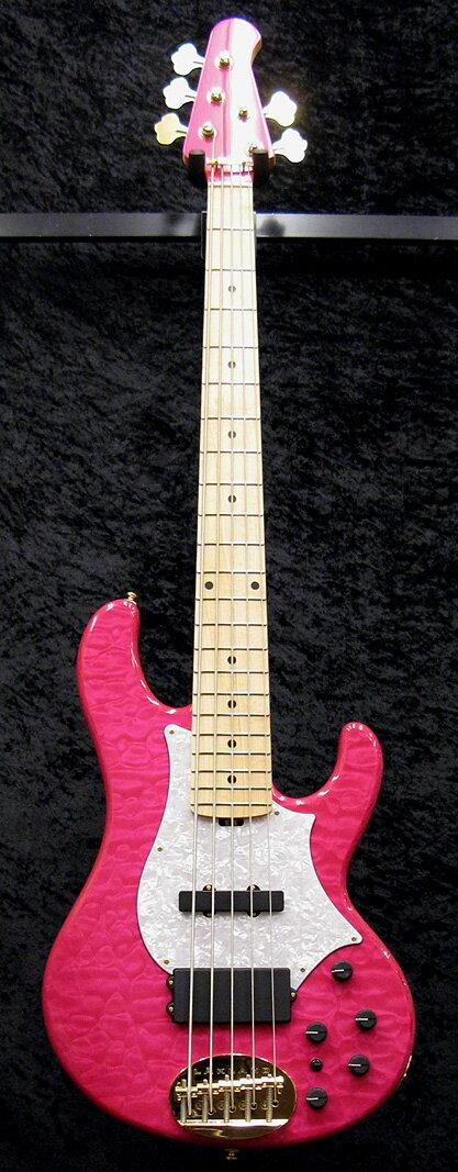 ベース, エレキベース Lakland SL55-69 tetsuya 6,,LArc-en-Ciel,See Thru Pink,Electric Bass