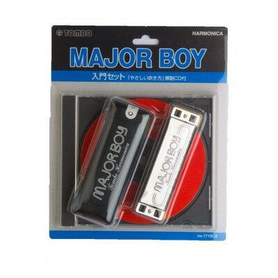 TOMBO1710CXMajorBoyC調初心者入門セット新品CD付10ホールハーモニカ トンボ  メジャーボーイ  10穴,1