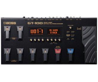 老闆 GT 100 2 版新 Amp 效果處理器 [老闆] [和完美處理器],[墨] [多效應器,多效果處理器]