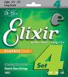 【エントリーでポイント10倍】Elixir 45-100 NANOWEB Stainless Steel Light 14652[エリクサー][ステンレススチール][コーティング][ライト][Long Scale,ロングスケール][ベース弦,String]